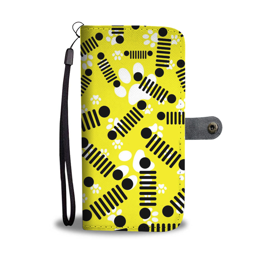 Jeep yellow pet wallet case