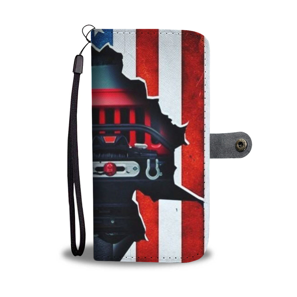 Jeep flag wallet case