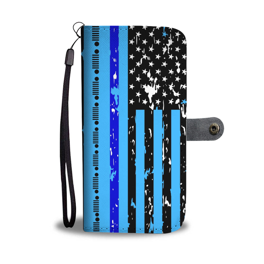 Jeep back the blue wallet case