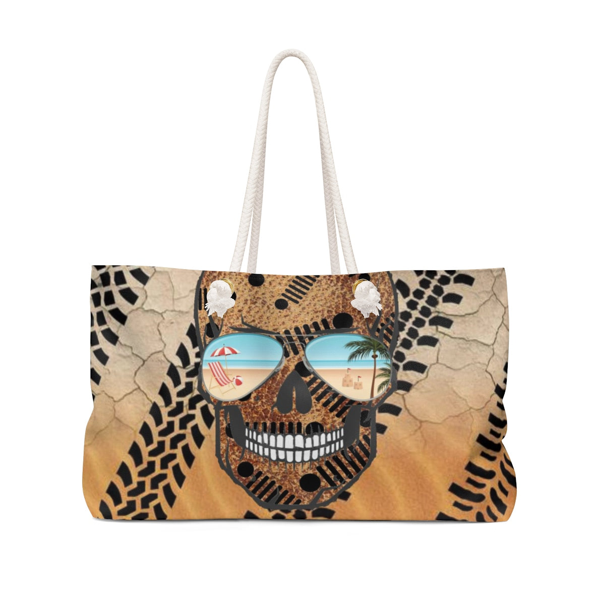 Jeep skull beach Weekender Bag