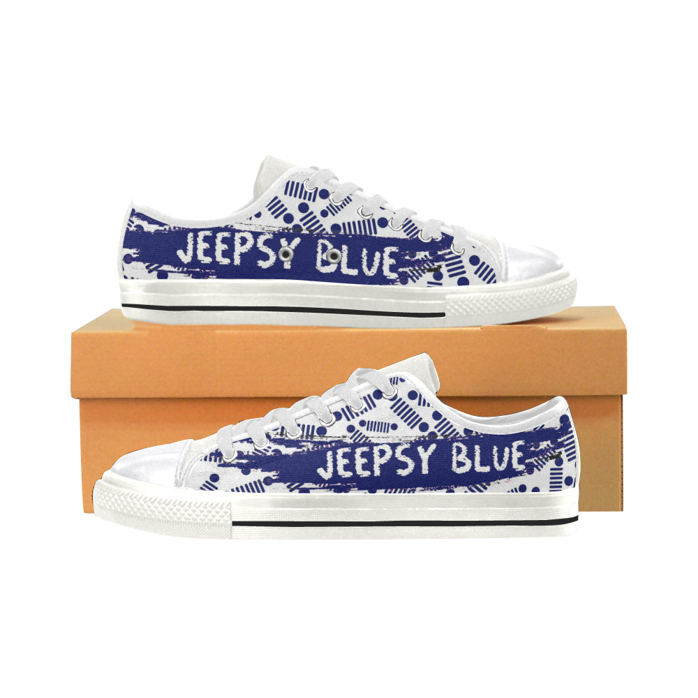 Jeepsy Blue logo Women's Classic Canvas Shoes (Model 018).