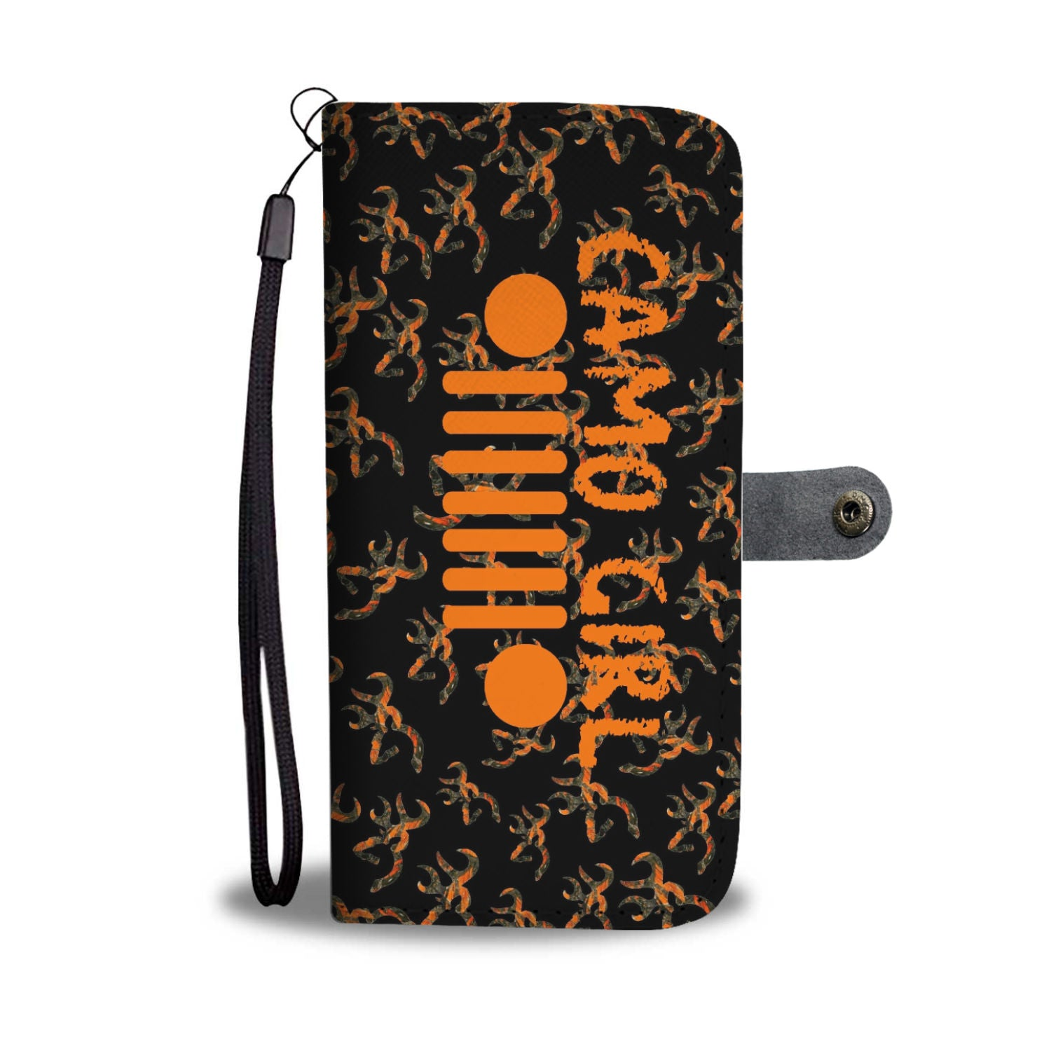 Orange Camo Jeep Girl Phone Wallet