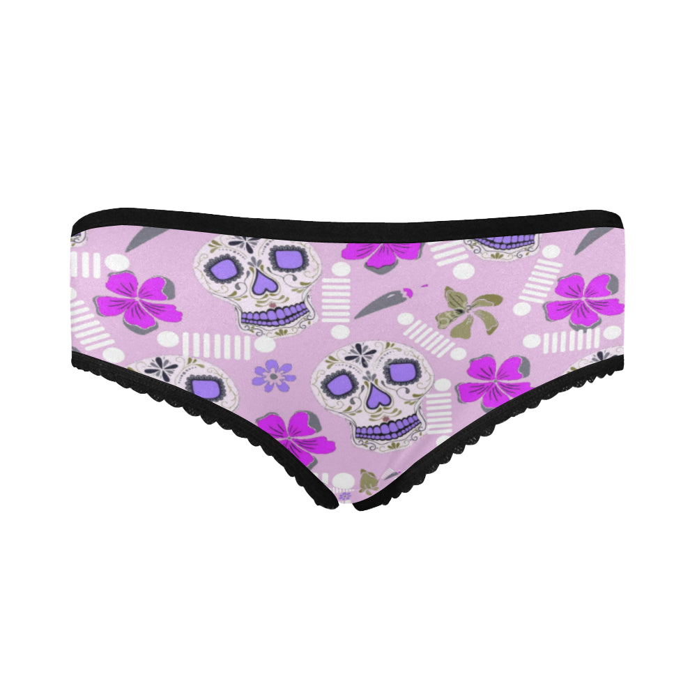 Sugar skull purple Women's All Over Print Classic Briefs (Model L13).