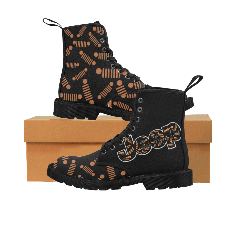 Custom Orange Jeep Decal  - 2020-02-09T120605.855 Martin Boots for Women (Black) (Model 1203H).