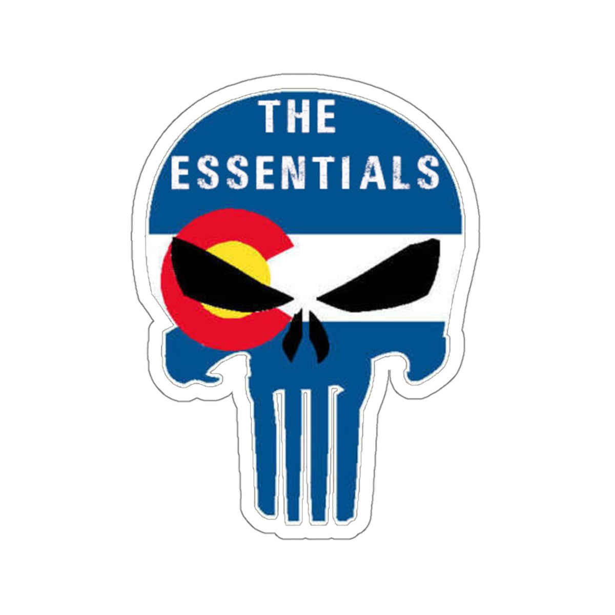Jeep skull blue Kiss-Cut Stickers