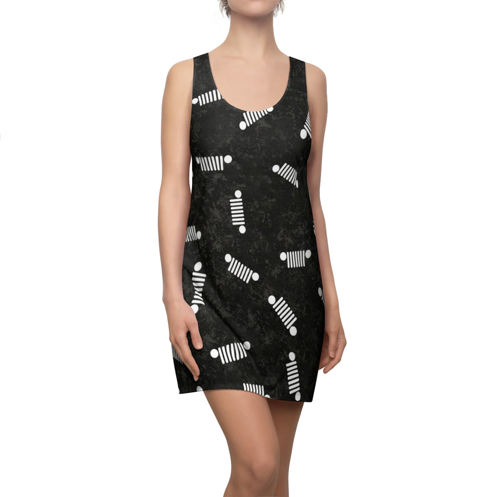 Black jeep Women's Cut & Sew Racerback Dress