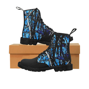 Blue meddy girl m essentials boots Martin Boots for Men (Black) (Model 1203H)