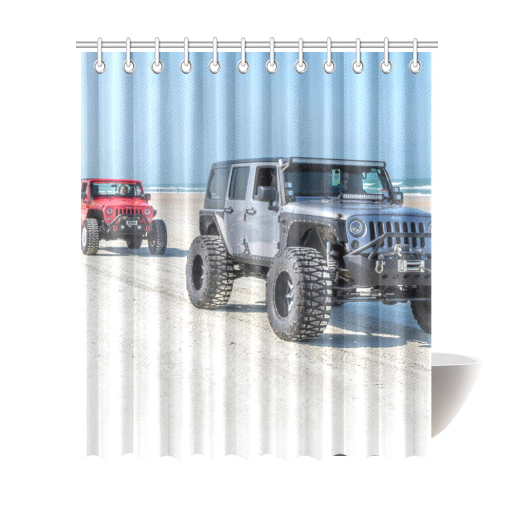 "Jeep beach Shower Curtain 72""x84"""