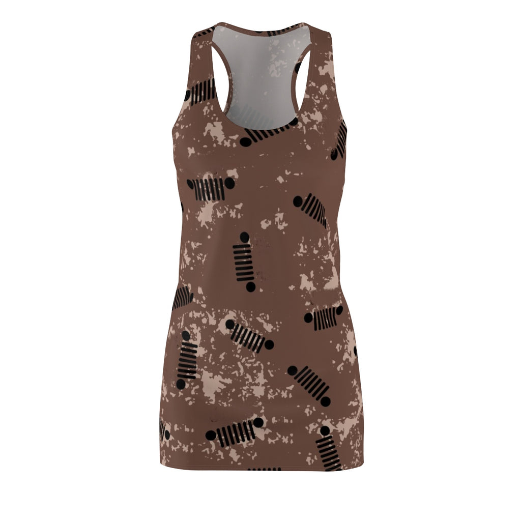 Brown jeep Women's Cut & Sew Racerback Dress