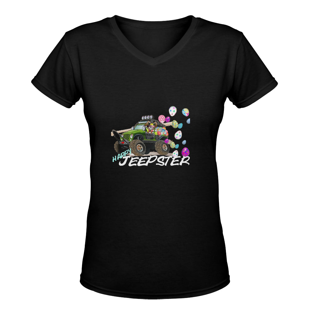 Jeepster jeep egg Women's Deep V-neck T-shirt (Model T19).