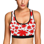 Canadian jeep girl Women's All Over Print Sports Bra (Model T52)