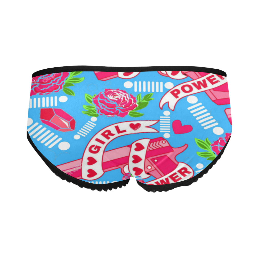 Girl Power Women's All Over Print Classic Briefs (Model L13).