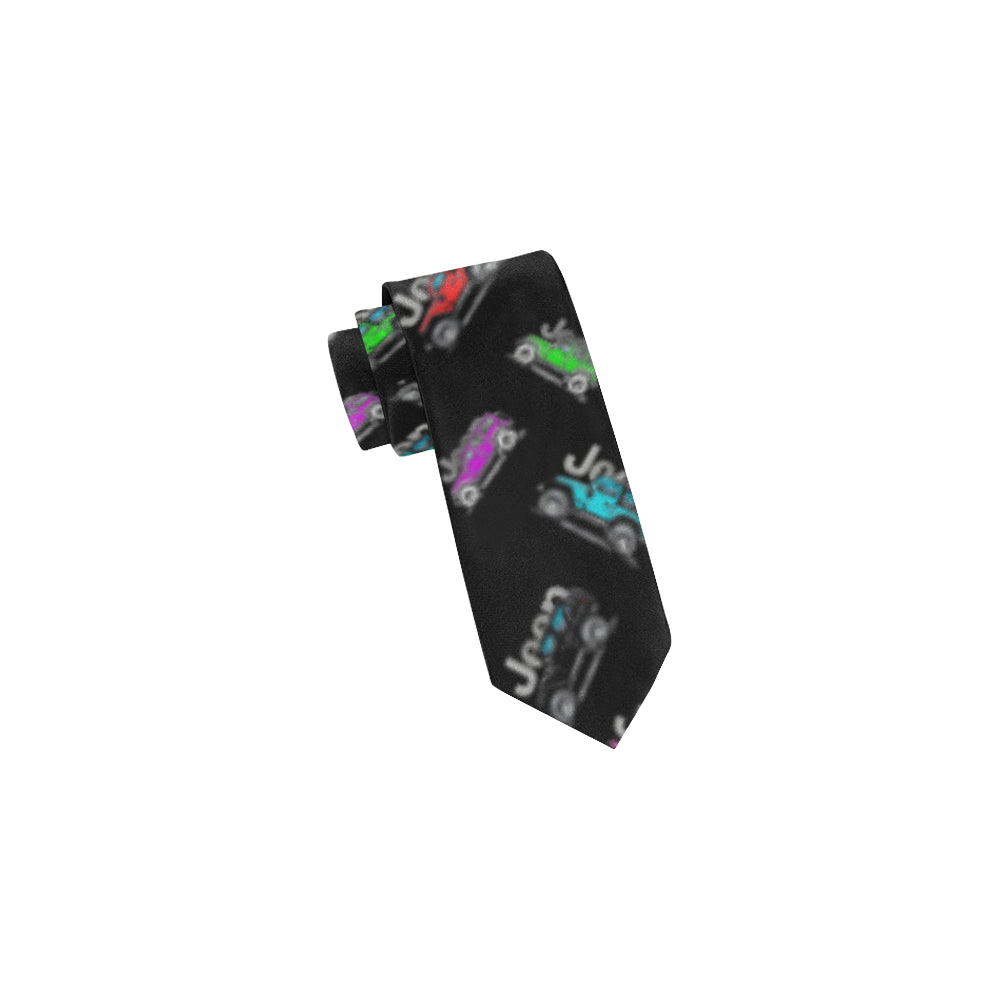 Jeep colorful text Classic Necktie (Two Sides).