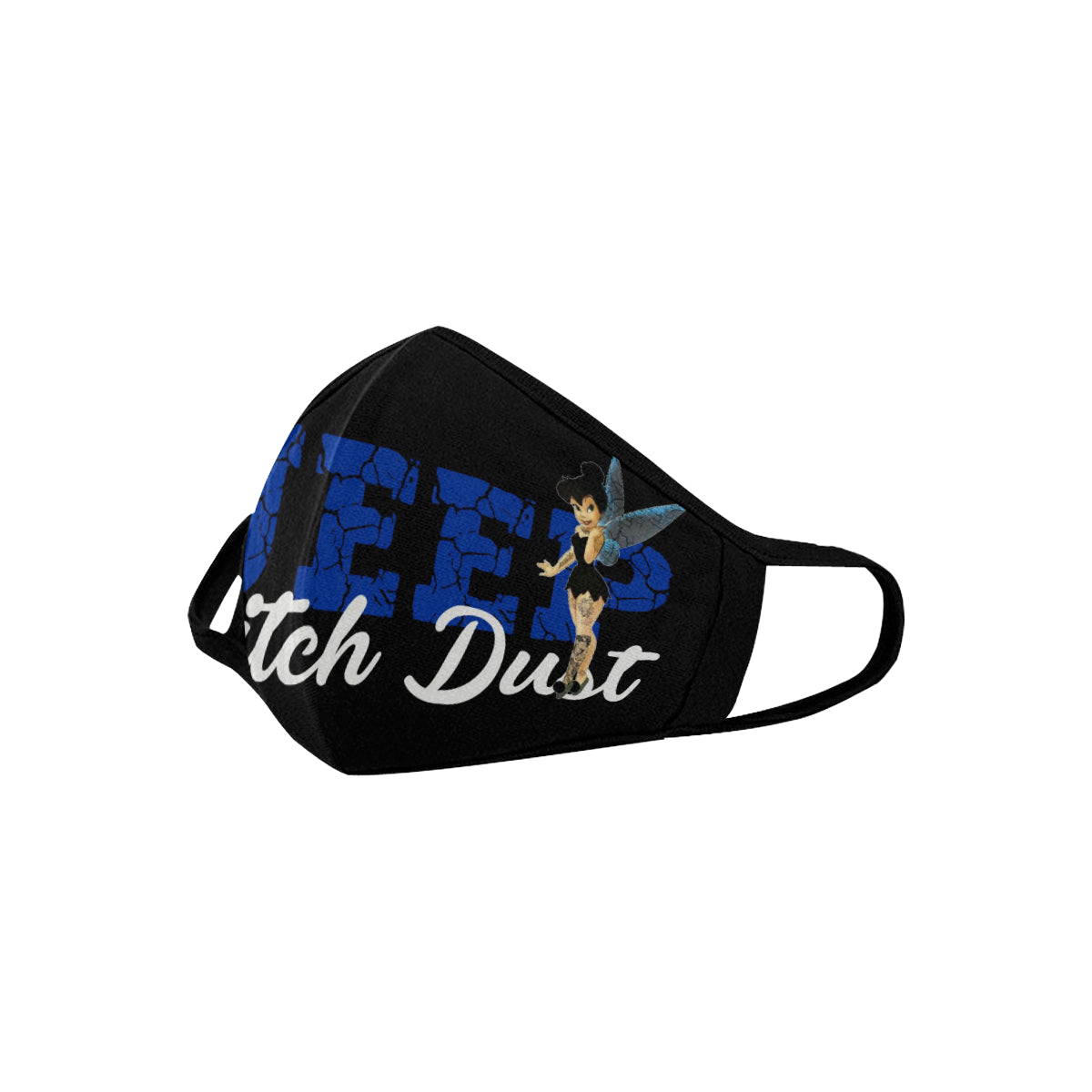 5 Cool custom unique jeep wrangler face mask covering dust blue Mouth Mask (Pack of 5)