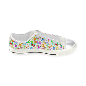 Autism jeep logo  Order a size up Women's Classic Canvas Shoes (Model 018).