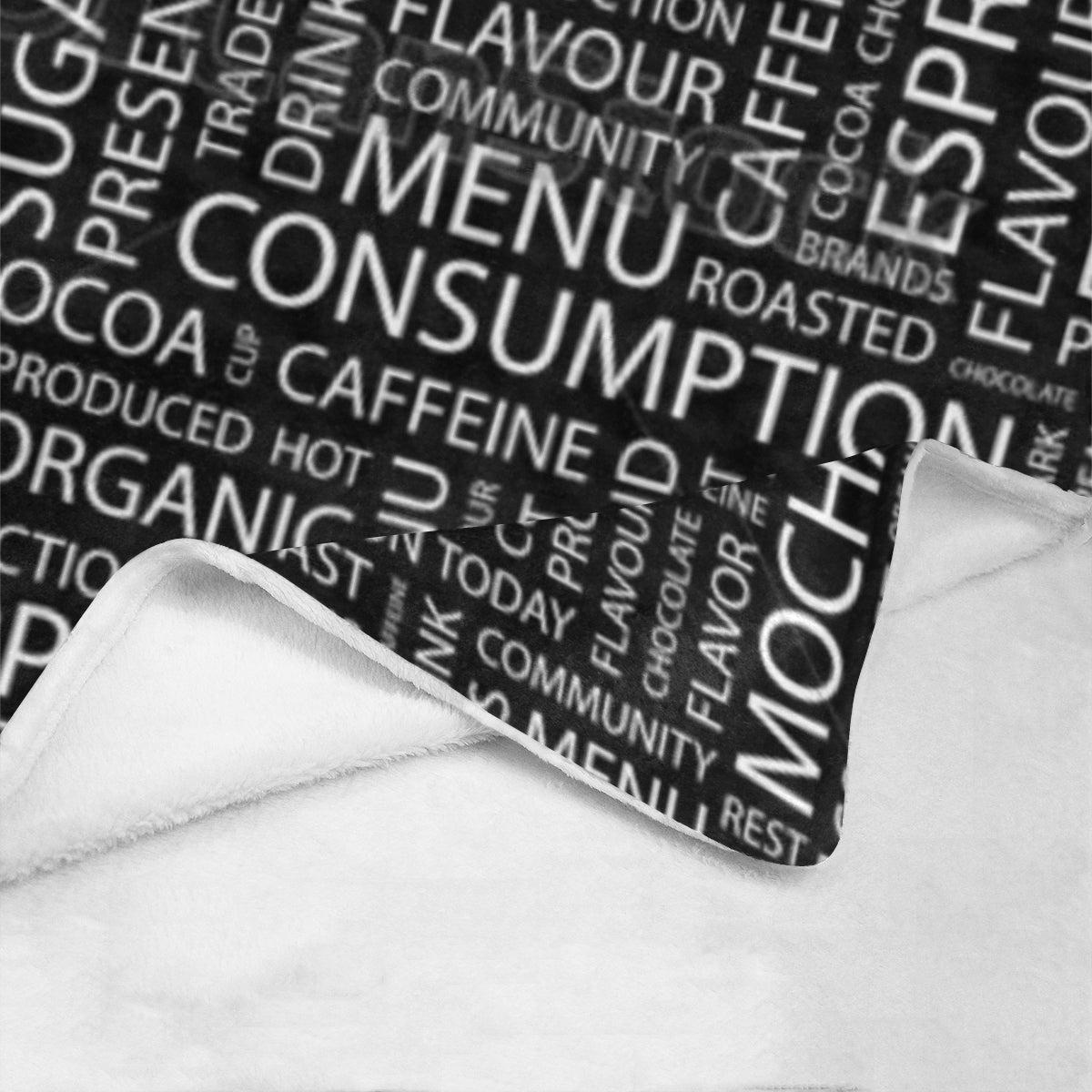 "Coffee white letter rug (59) Ultra-Soft Micro Fleece Blanket 50""x60"""