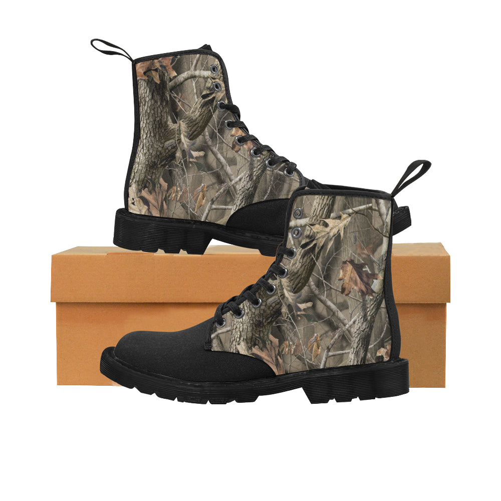 Brown realtree essentials jeep boots Martin Boots for Men (Black) (Model 1203H)