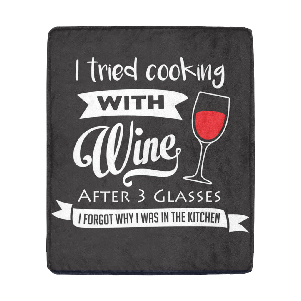 "Tried cooking wine rug (51) Ultra-Soft Micro Fleece Blanket 50""x60"""