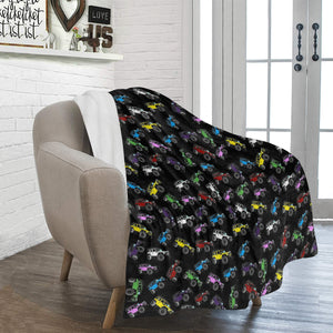 "Custom 4door jeep Ultra-Soft Micro Fleece Blanket 50""x60""."