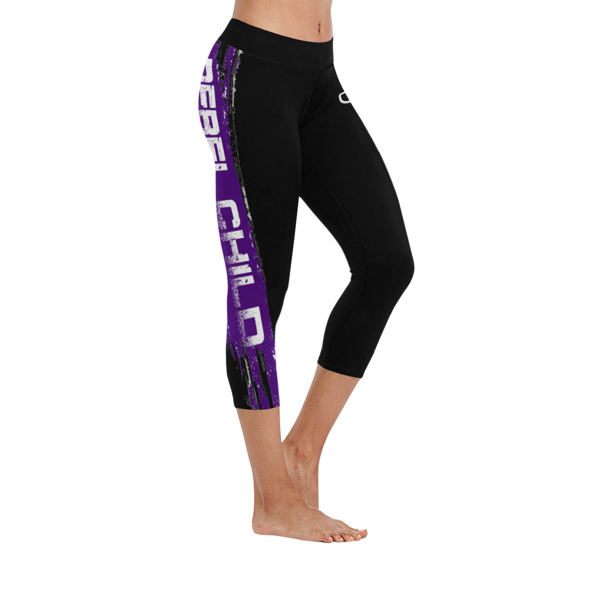 Purple krewe Low Rise Capri Leggings (Invisible Stitch) (Model L08).