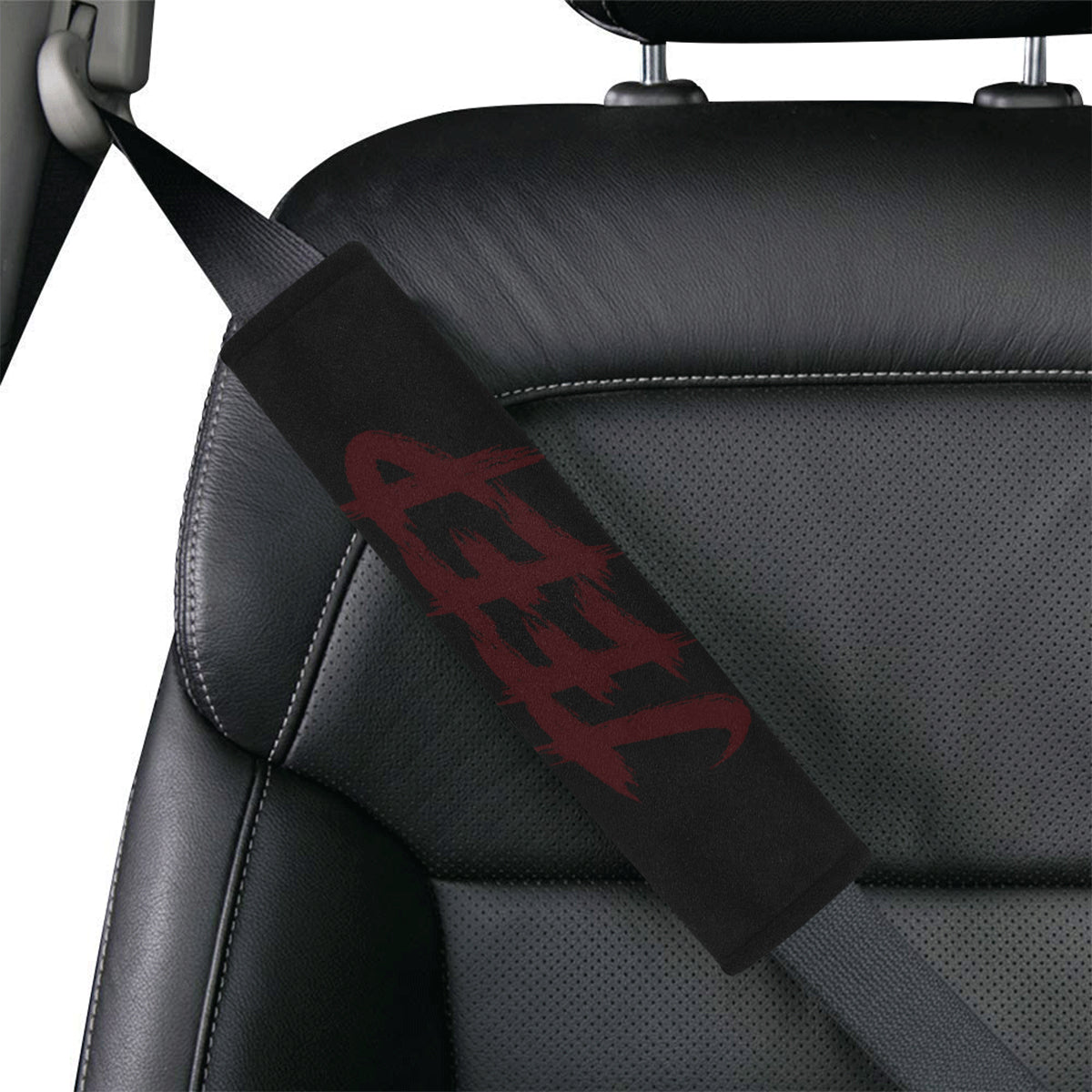 Marroon Jeep Car Seat Belt Cover 7''x12.6''.