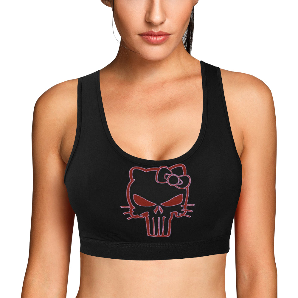 Jeep hello kitty bra Women's All Over Print Sports Bra (Model T52)
