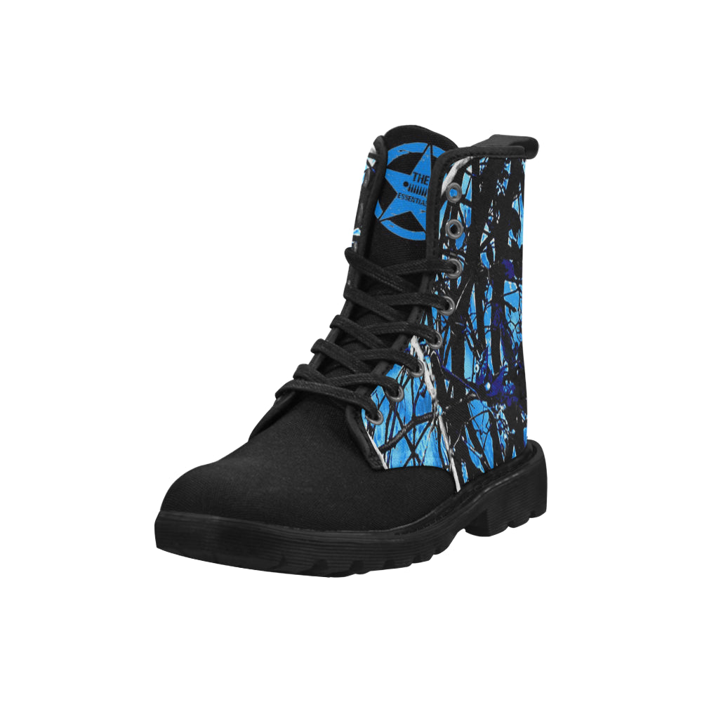 Blue muddy girl essentials jeep boots Martin Boots for Women (Black) (Model 1203H)