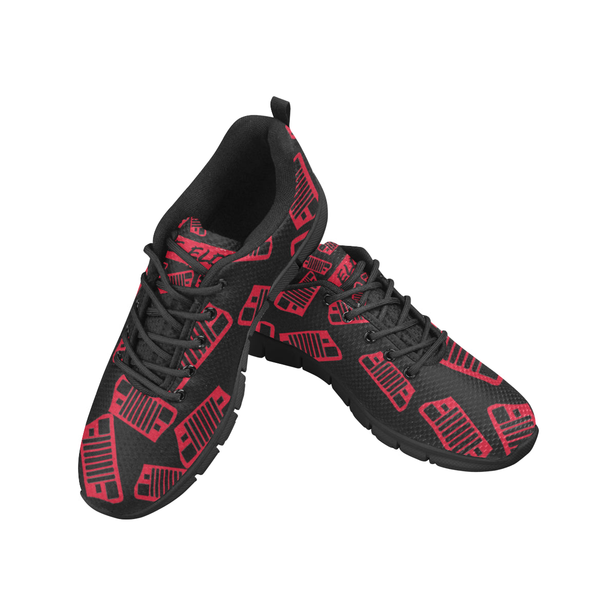 Custom jeep shoes The elder YJ nation custom jeep shoes Women's Breathable Running Shoes (Model 055)