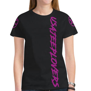 Pink 4door summer jeep shirt New All Over Print T-shirt for Women (Model T45).