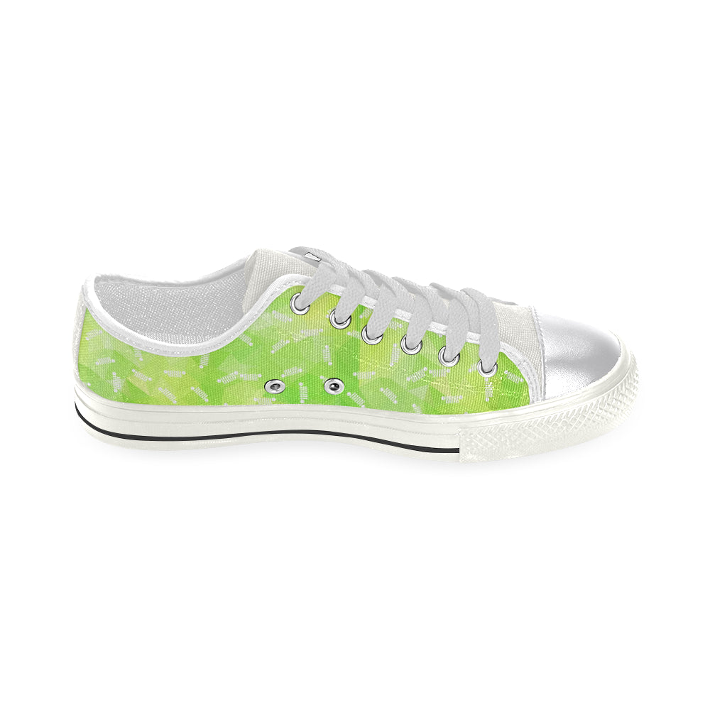Lime green jeep logo  Order a size up Women's Classic Canvas Shoes (Model 018).