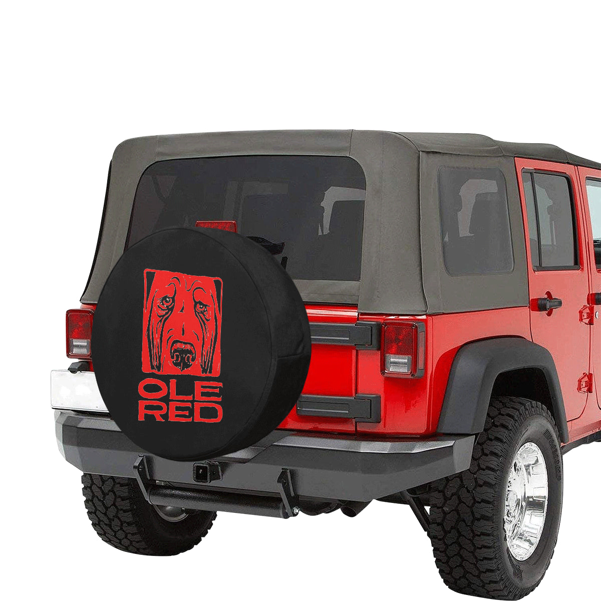 Ole red dog jeep 32 Inch Spare Tire Cover.
