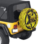 Yellow star skull Jeep 30 Inch Spare Tire Cover.