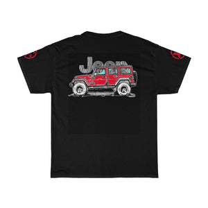 Red Jeep USA Unisex Heavy Cotton Tee