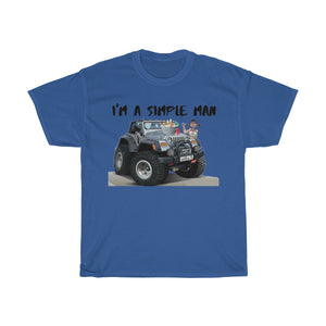 Jeep shirts accessories tee A simple man Unisex