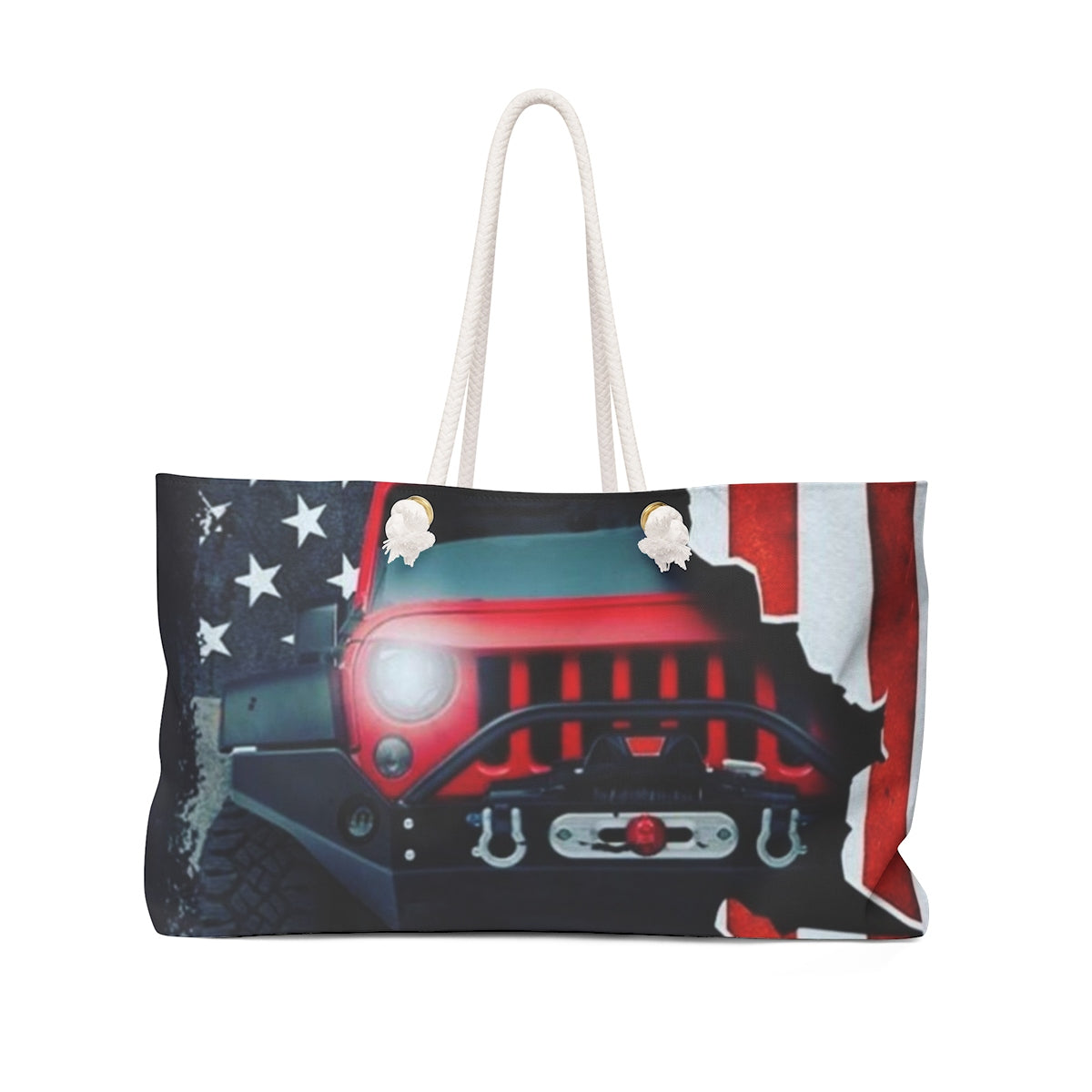 Jeep flag beach Weekender Bag