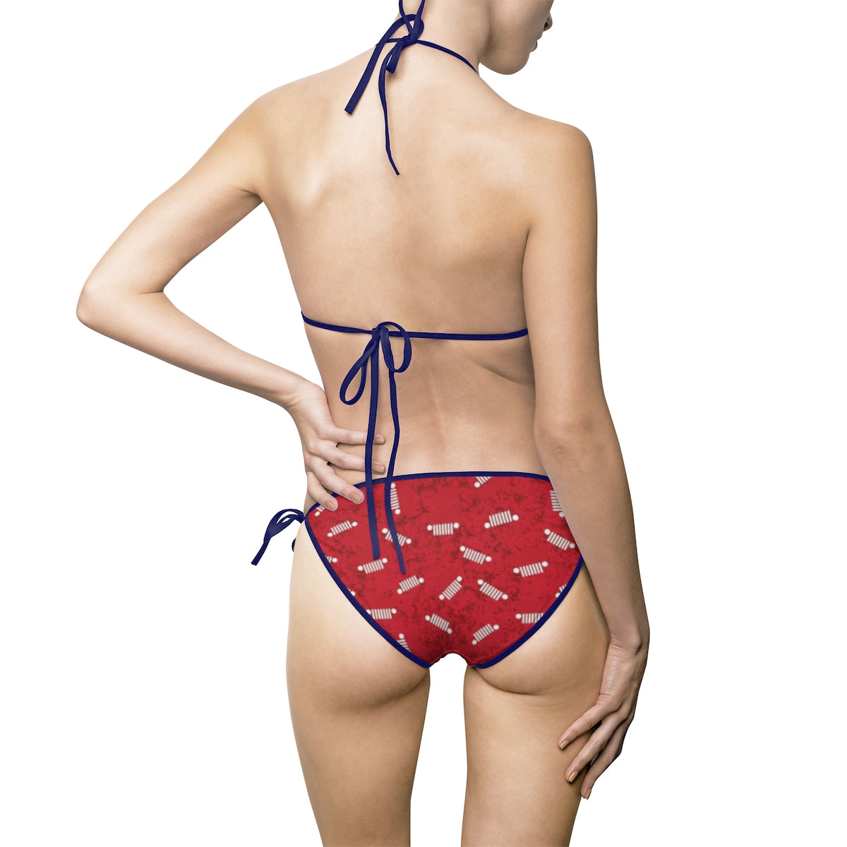 Red jeep Women's Bikini Swimsuit