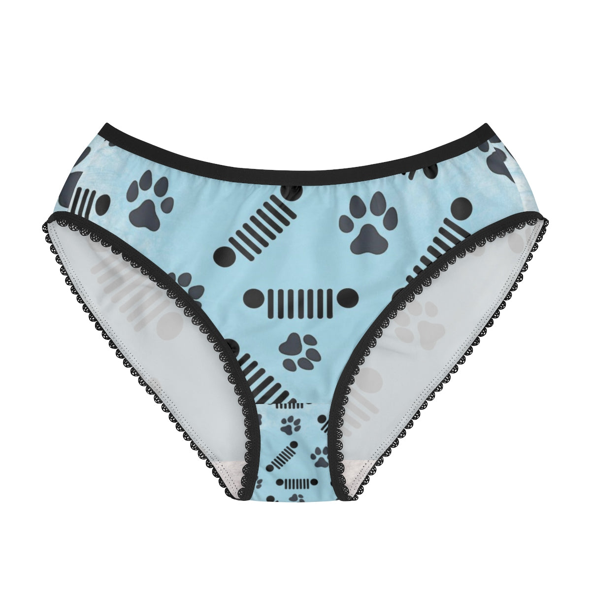 Blue jeep pet paw women's Briefs