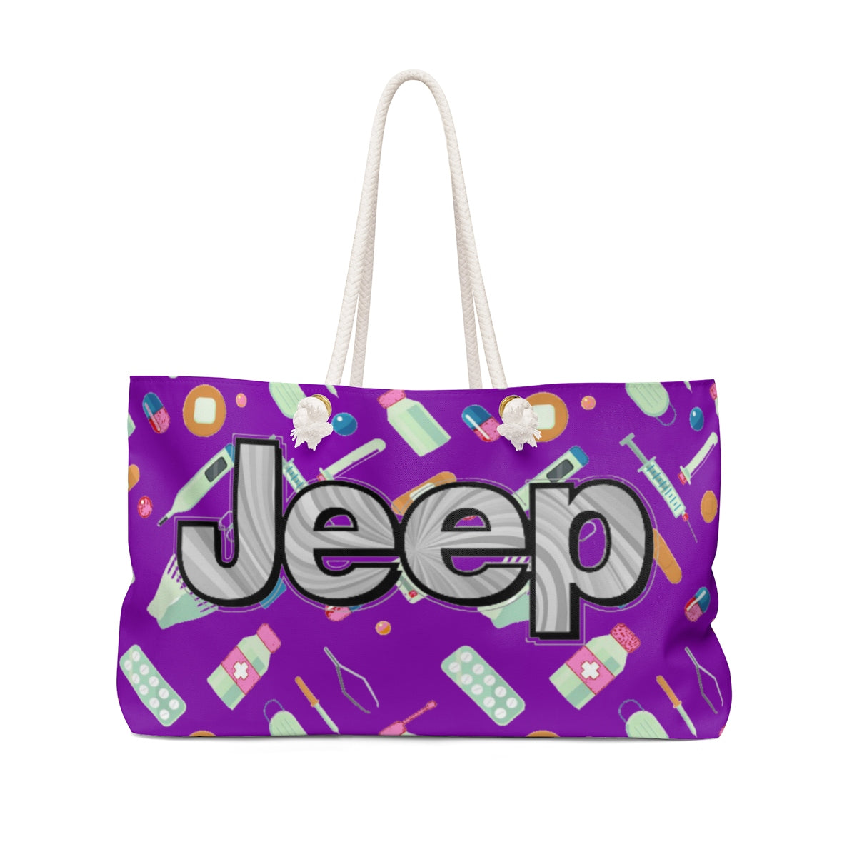 Purple jeep tote Weekender Bag