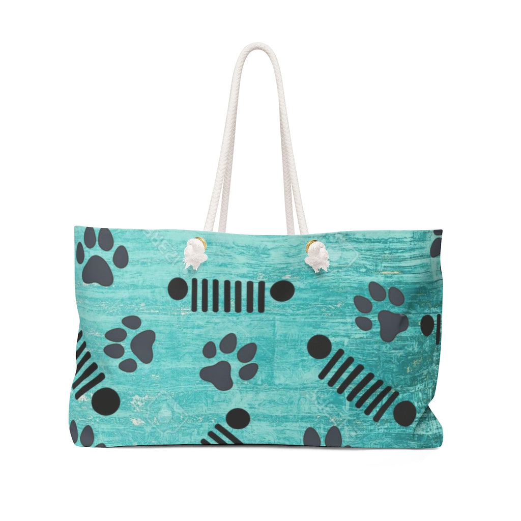 Jeep pet paw beach weekender Bag