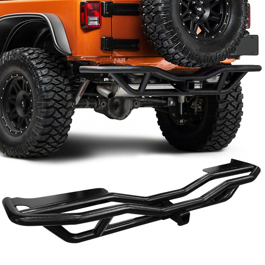 Crawler Rear Bumper Guard Textured Rock Crawler Rear Bumper Guard Fit for 2007-2018 Jeep Wrangler JK