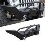 Car Rock Crawlger Front Bumper For 2007-2018 Jeep Wrangler JK Black Front Bumper Heavy Duty Steel Bumper Guard