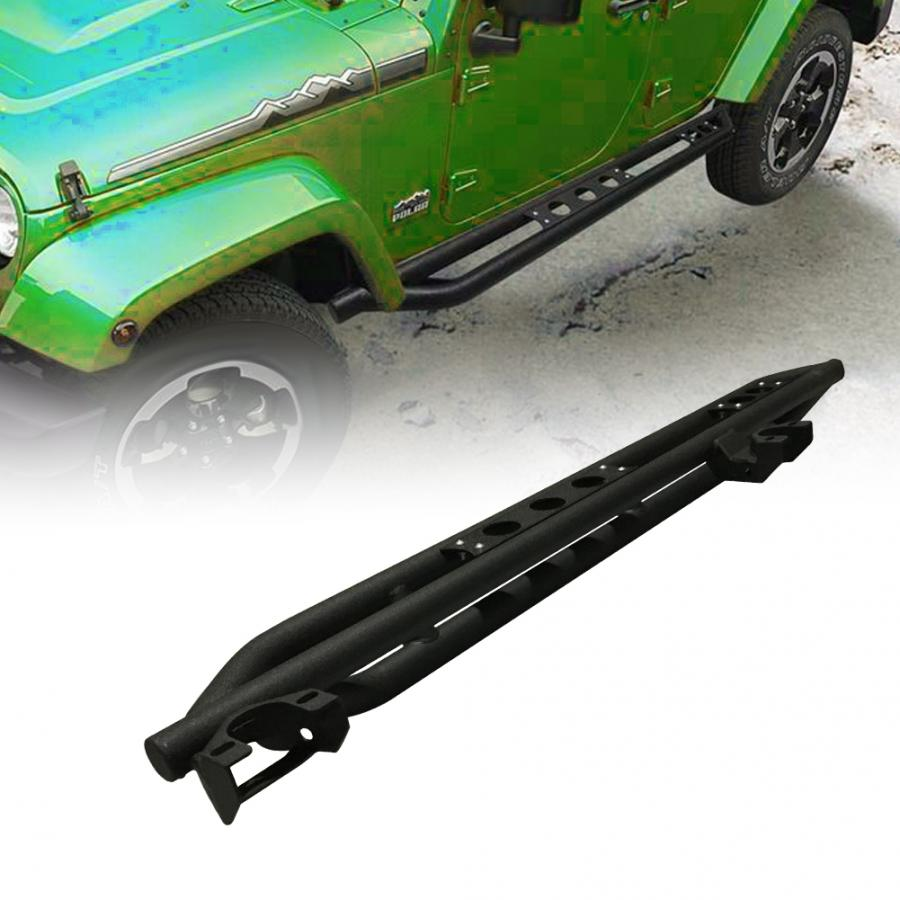 Black Textured Side Armor Running Boards For Jeep Wrangler JK 4 Door 2007 2008 2009 2010 2011 2012 2013 2014 2015 2016 2017 2018