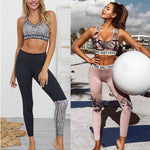 Women Sport Suit Yoga Set Gym Workout Clothes Sleeveless Fitness Crop Top + High Waist Energy Seamless Leggings May 27th