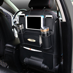 Two Jeep Back Seat Organizer Storage Bag Container Stowing Tidying Tablet Phone Holder Interior Accessories