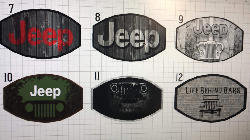 Custom cool jeep face mask plus 5 filters wrangler girl men for sale