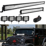 "52INCH 300W LED Light Bar Combo+22"" 120W+4"" 18W For Jeep Wrangler JK YJ CJ LJ TJ"