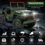 2.4G 1:10 4WD Military Truck Off-road Gift Toy