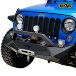 EAG Front Bumper W/ Winch Plate Fit for 07-18 Jeep Wrangler JK