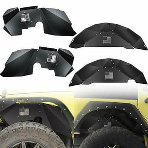 Rear & Front Fender Liner Flares Off-Road fits 2007-2018 Jeep Wrangler JK 4WD