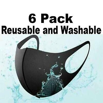 Cool jeep face mask Reusable Face Mask Black Fashion Washable Masks Mascaras Negras Unisex - 6 Pack